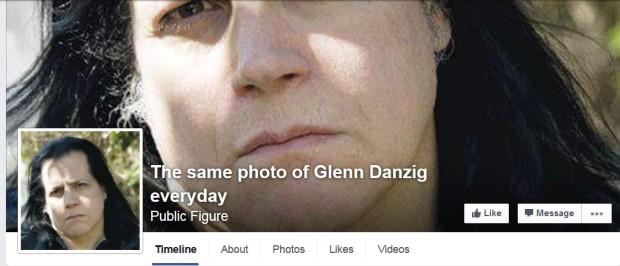 Kuva 3. The Same Photo of Glenn Danzig Everyday oli Pekka Pouta moshpitissä -kuvameemin keskeinen innoittaja. Alkuperäinen sivusto on ehtinyt jo haihtua netin eetteriin.
