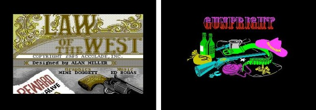 Figure 2. The West as scene- and mood setting material. Law of the West and Gunfright.