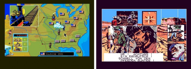 Figure 9: Western comic books interpreted on the computer screen: North and South and Blueberry.