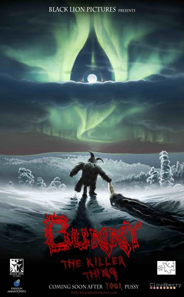 Kuva 1. Bunny the Killer Thing -juliste. Elokuvan teatterilevitys alkoi Suomessa marraskuussa 2015. © Black Lion Pictures