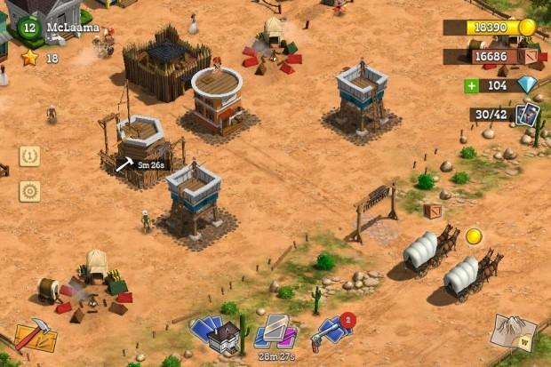 Kuva  1. McLaaman kaupungissa on jo puolustustorneja ja linnake.