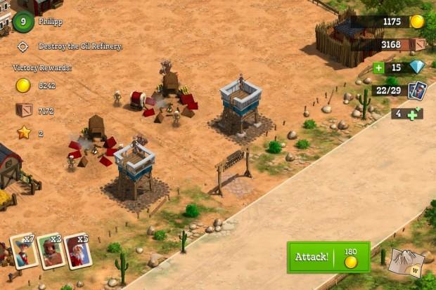 Kuva  3. Tiedustelutoimintaa toisen pelaajan tontilla. Hyökkäys aloitetaan aina tieltä.