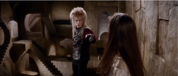 Image 2. Jareth singing Without You to Sarah.