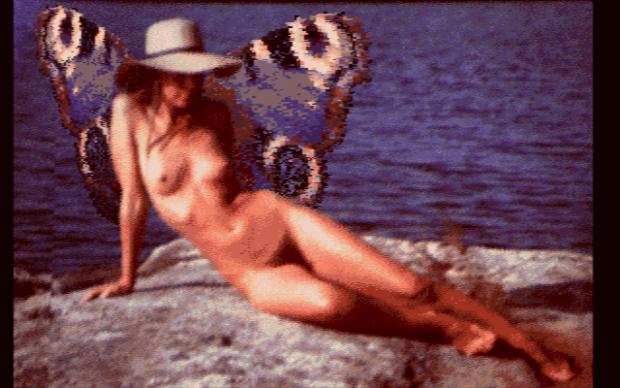 Kuva A.4. Yhdistelmä naishahmosta ja perhosesta.
