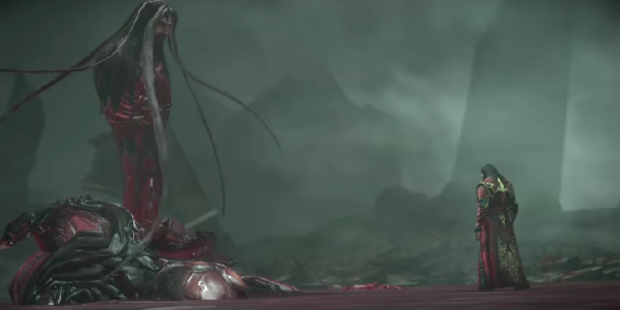 Kuva 4. Draculan sisäinen pahuus ottaa muodon saastuneena verenä.