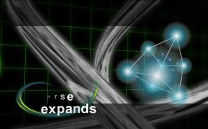 Kuva 7: Kontrast (Pyrotech 2004). Varsinainen tekninen demoefekti on pienessä osassa kuvan oikeassa laidassa graafisten elementtien täyttäessä suurimman osan ruudusta.