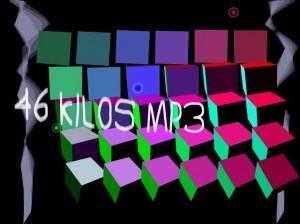 Kuva 9: Kuutioprojekti (Plinc 2004). 46 kilotavua mp3-pakattua musiikkia vei valtaosan 64 kilotavun introsta.