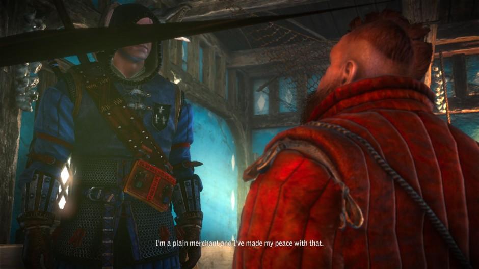 Kuva 8. Automaattisen kameran aiheuttama päähenkilön jääminen kuvan etualan objektin taakse (Witcher 2).